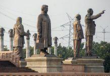 Former Uttar Pradesh CM Mayawati's statues among others at Dalit Prerna Sthal in Noida | PTI