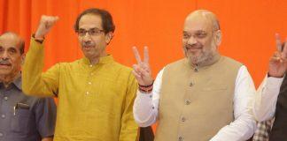 Shiv Sena chief Uddhav Thackeray with BJP president Amit Shah | @ShivSena/Twitter