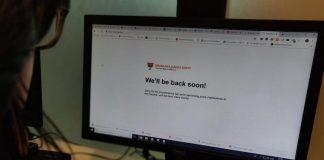 The message displayed on the BJP website | Manisha Mondal/ThePrint