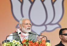 Prime Minister Narendra Modi at an election rally in Assam ahead of the 2019 general elections
