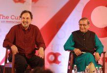 Prannoy Roy (L) with Dorab R. Sopariwala (R) at Off The Cuff in Mumbai | ThePrint