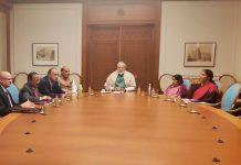 Narendra Modi chairing a NSC meet
