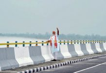 File photo of Narendra Modi at the Dhola Sadia Bridge, across River Brahmaputra, in Assam | PIB