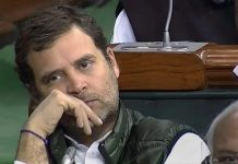 File photo of Congress president Rahul Gandhi in Parliament | PTI