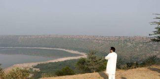 File photo of Raj Thackeray at Lonar Lake in Buldhana district | Facebook