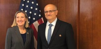 L-R: Under Secretary of State for Arms Control and International Security Affairs Andrea Thompson, Foreign Secretary Vijay Gokhale   @IndianEmbassyUS/Twitter