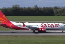 A Boeing 737 MAX operated by SpiceJet