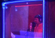 A singer records his song in Ambey Studio, East Delhi | Rajat Mishra