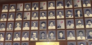 Photographs of RSS workers killed in violence in Kannur