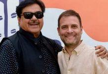 New Congress leader Shatrughan Sinha with party chief Rahul Gandhi | @ShatruganSinha/Twitter