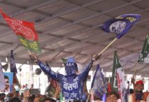 A BSP supporter in today's rally in Deoband | Praveen Jain | ThePrint