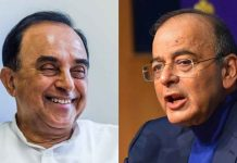 File photo of BJP leaders Subramanian Swamy and Arun Jaitely