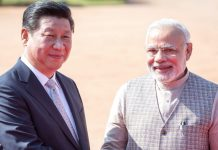 File photo | Narendra Modi with China president Xi Jinping in New Delhi | Graham Crouch | Bloomberg