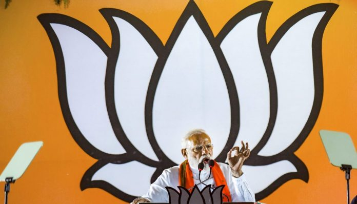 Narendra Modi during an election campaign in Uttar Pradesh | PTI