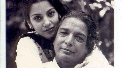Shabana Azmi with her father Kaifi Azmi
